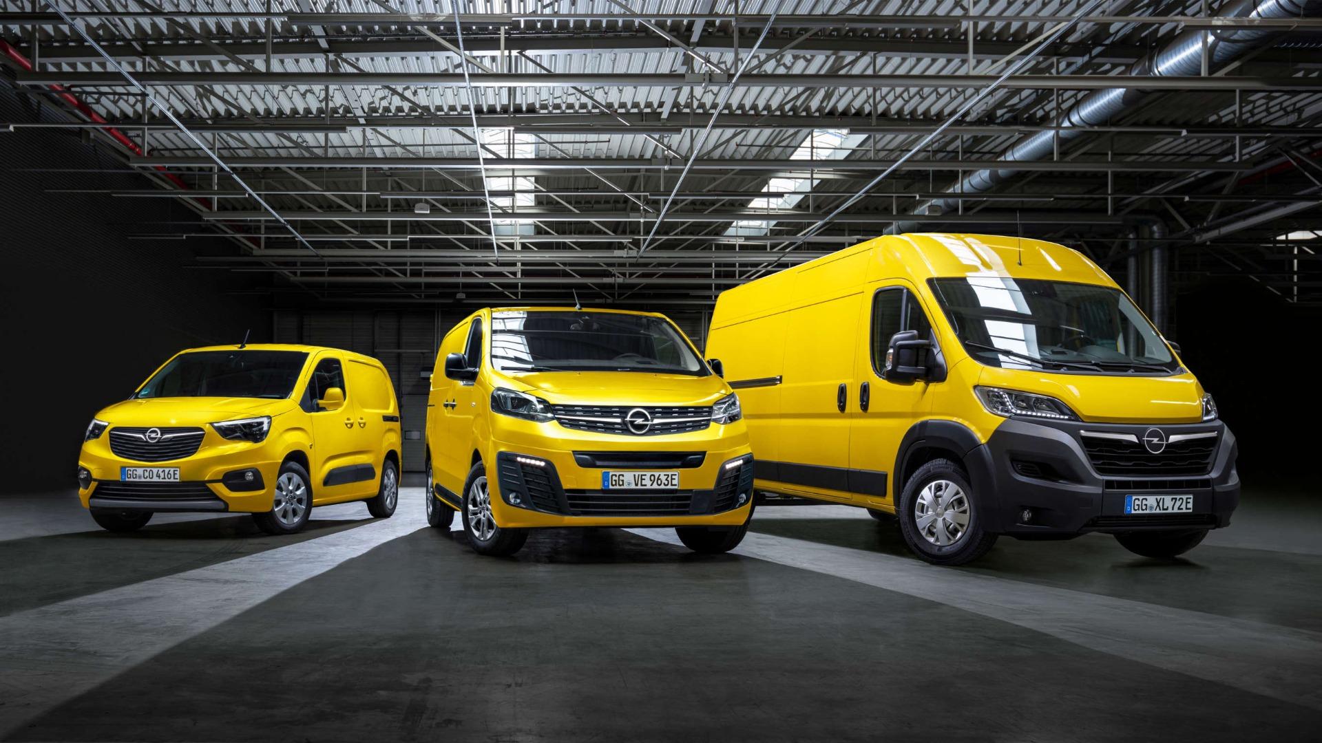 Opel Combo-e, Opel Vivaro-e, Opel Movano-e, зовнішній вигляд