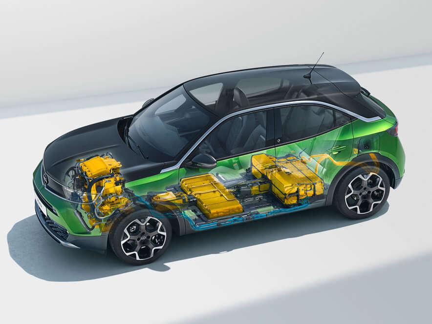 Opel Mokka, акумуляторна батарея